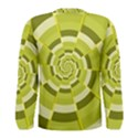 Crazy Dart Green Gold Spiral Men s Long Sleeve Tee View2