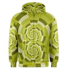 Crazy Dart Green Gold Spiral Men s Zipper Hoodie by designworld65