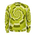 Crazy Dart Green Gold Spiral Men s Sweatshirt View1