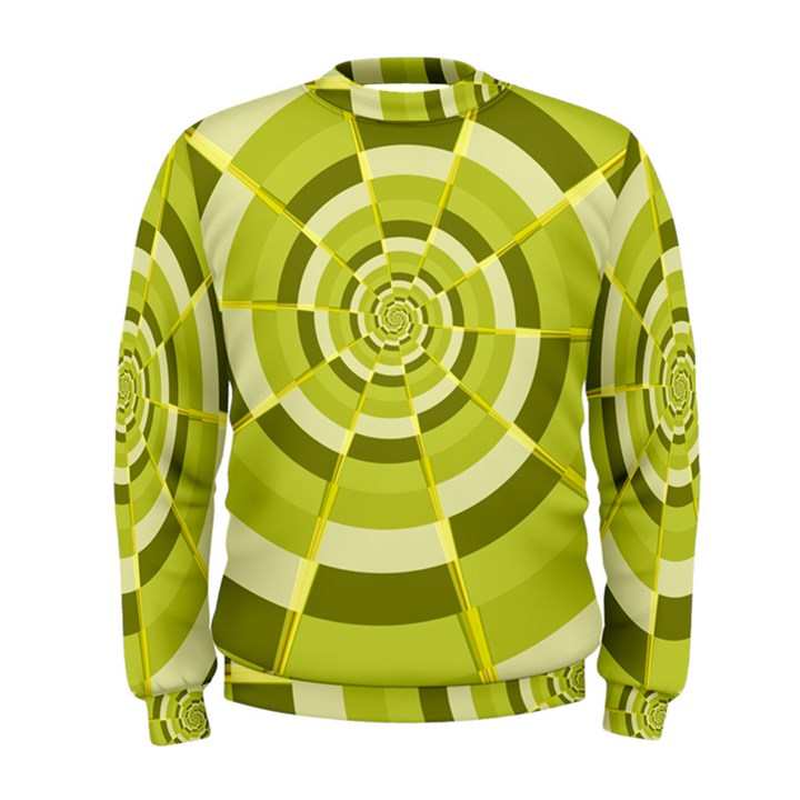Crazy Dart Green Gold Spiral Men s Sweatshirt
