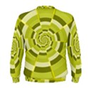 Crazy Dart Green Gold Spiral Men s Sweatshirt View2