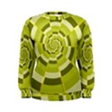 Crazy Dart Green Gold Spiral Women s Sweatshirt View1