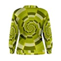 Crazy Dart Green Gold Spiral Women s Sweatshirt View2
