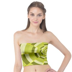 Crazy Dart Green Gold Spiral Tube Top by designworld65