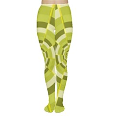 Crazy Dart Green Gold Spiral Women s Tights by designworld65