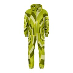 Crazy Dart Green Gold Spiral Hooded Jumpsuit (kids) by designworld65