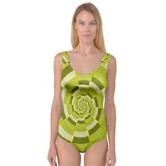 Crazy Dart Green Gold Spiral Princess Tank Leotard  by designworld65