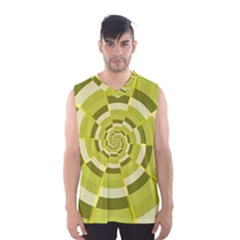 Crazy Dart Green Gold Spiral Men s Basketball Tank Top by designworld65