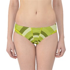 Crazy Dart Green Gold Spiral Hipster Bikini Bottoms by designworld65