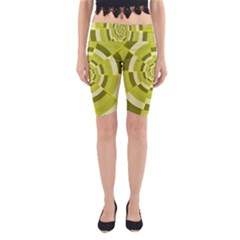 Crazy Dart Green Gold Spiral Yoga Cropped Leggings by designworld65