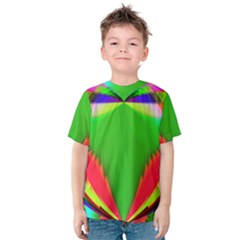 Colorful Abstract Butterfly With Flower  Kids  Cotton Tee