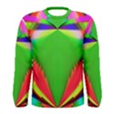 Colorful Abstract Butterfly With Flower  Men s Long Sleeve Tee View1