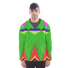 Colorful Abstract Butterfly With Flower  Hooded Wind Breaker (men) by designworld65