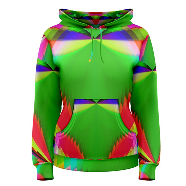 Colorful Abstract Butterfly With Flower  Women s Pullover Hoodie