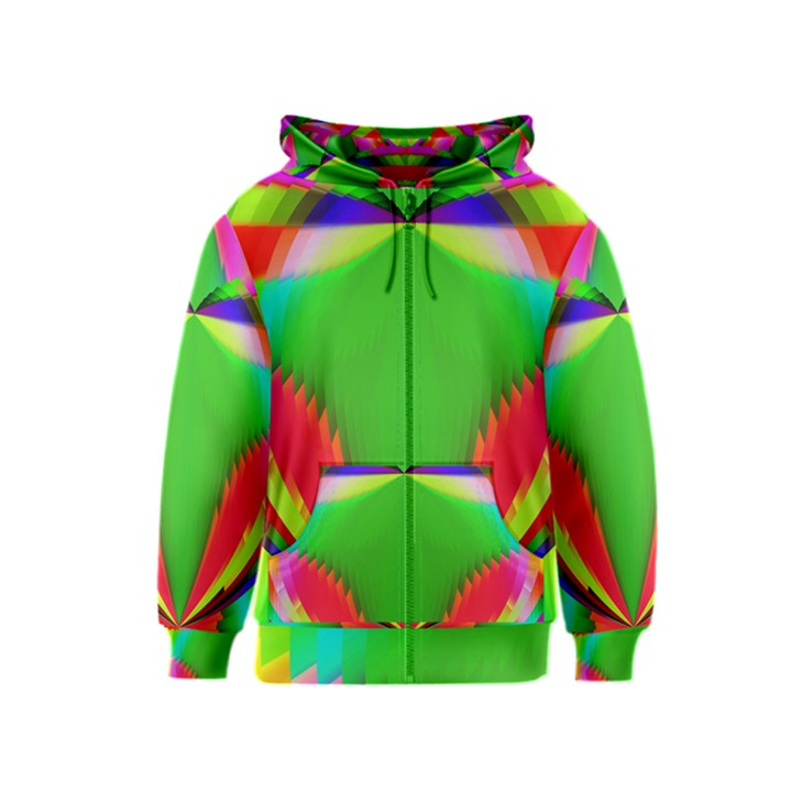 Colorful Abstract Butterfly With Flower  Kids  Zipper Hoodie