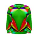 Colorful Abstract Butterfly With Flower  Women s Sweatshirt View1
