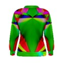 Colorful Abstract Butterfly With Flower  Women s Sweatshirt View2