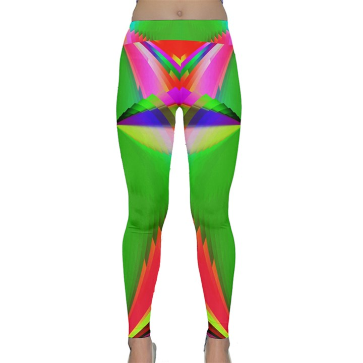 Colorful Abstract Butterfly With Flower  Yoga Leggings