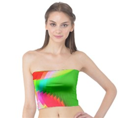 Colorful Abstract Butterfly With Flower  Tube Top by designworld65