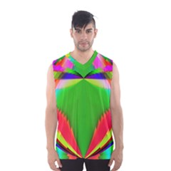Colorful Abstract Butterfly With Flower  Men s Basketball Tank Top by designworld65