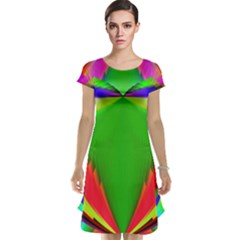 Colorful Abstract Butterfly With Flower  Cap Sleeve Nightdress by designworld65