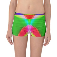 Colorful Abstract Butterfly With Flower  Reversible Boyleg Bikini Bottoms