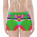Colorful Abstract Butterfly With Flower  Boyleg Bikini Wrap Bottoms View2