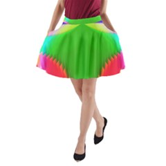 Colorful Abstract Butterfly With Flower  A Line Pocket Skirt by designworld65