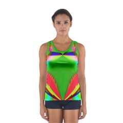 Colorful Abstract Butterfly With Flower  Women s Sport Tank Top  by designworld65