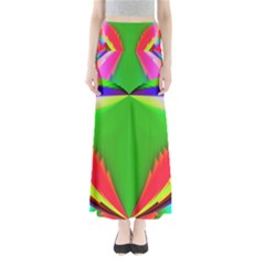 Colorful Abstract Butterfly With Flower  Maxi Skirts by designworld65