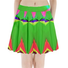 Colorful Abstract Butterfly With Flower  Pleated Mini Skirt by designworld65