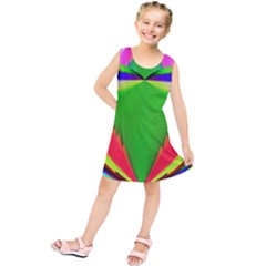 Colorful Abstract Butterfly With Flower  Kids  Tunic Dress by designworld65