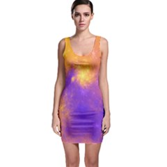 Colorful Universe Sleeveless Bodycon Dress by designworld65