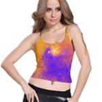 Colorful Universe Spaghetti Strap Bra Top