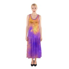 Colorful Universe Sleeveless Maxi Dress by designworld65