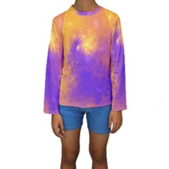 Colorful Universe Kids  Long Sleeve Swimwear by designworld65