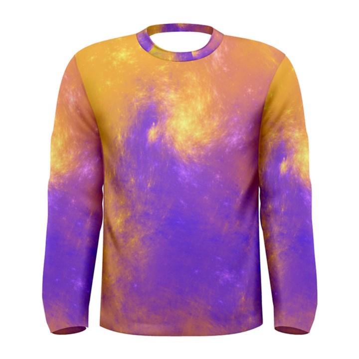 Colorful Universe Men s Long Sleeve Tee