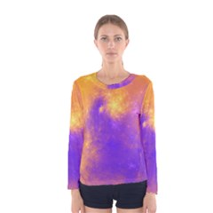 Colorful Universe Women s Long Sleeve Tee by designworld65