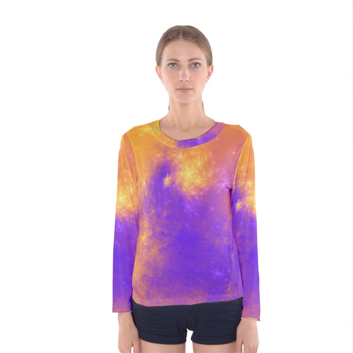 Colorful Universe Women s Long Sleeve Tee