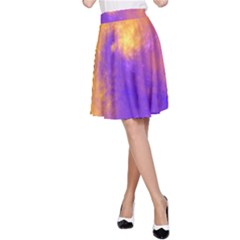 Colorful Universe A Line Skirt by designworld65