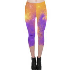 Colorful Universe Capri Leggings  by designworld65
