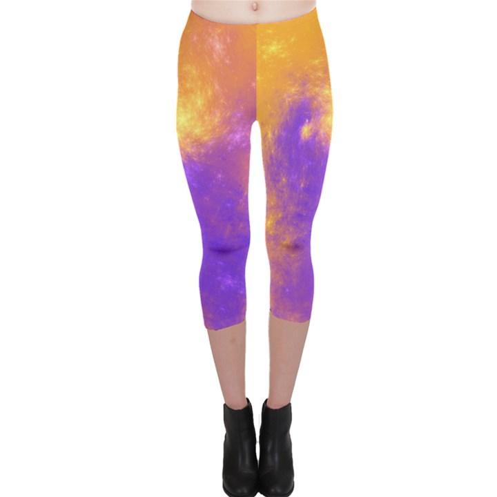 Colorful Universe Capri Leggings