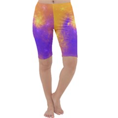 Colorful Universe Cropped Leggings  by designworld65