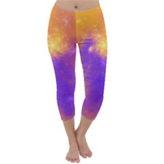 Colorful Universe Capri Winter Leggings  by designworld65