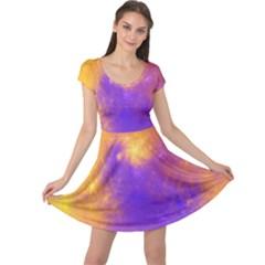 Colorful Universe Cap Sleeve Dresses by designworld65