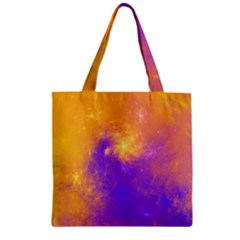 Colorful Universe Zipper Grocery Tote Bag