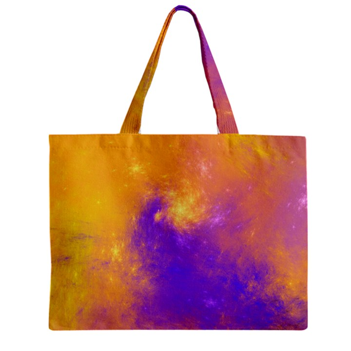 Colorful Universe Zipper Mini Tote Bag