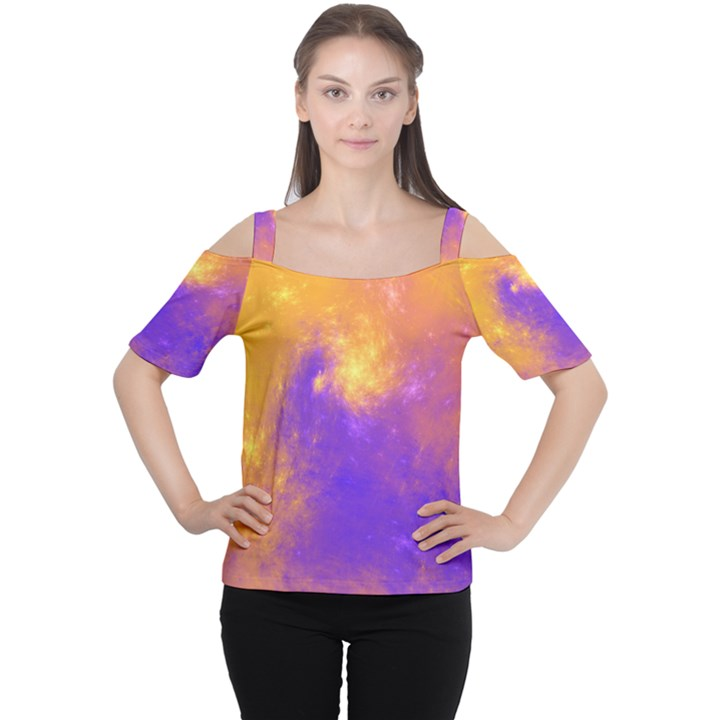 Colorful Universe Women s Cutout Shoulder Tee