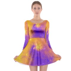 Colorful Universe Long Sleeve Skater Dress by designworld65