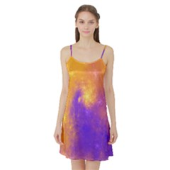 Colorful Universe Satin Night Slip by designworld65